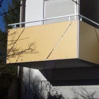 Geländer mit Trespa Kunststoffplatten
