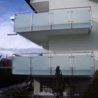 Edelstahlgeländer mit Glasfüllung