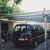 Fahrzeugüberdachung als Carport